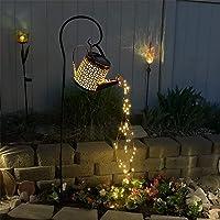 Luminária de chuveiro de ferro, luz de LED para jardim solar inovadora decoração ao ar livre com regador, fio de cobre…