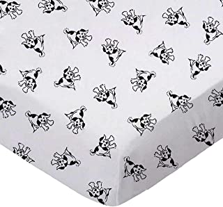 product image for SheetWorld Fitted 100% Cotton Percale Play Yard Sheet Fits BabyBjorn Travel Crib Light 24 x 42, Doggies, Made in USA