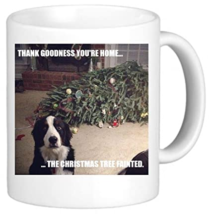 Dog Christmas Tree Meme.Festival Fashion Christmas Tree Fainted Dog Meme Secret Santa Office Funny Novelty Mug Cup Gift