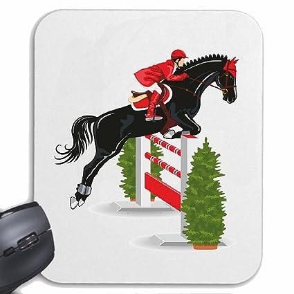 Mousepad alfombrilla de ratón El salto del caballo HÍPICA concurso ecuestre Jinete del caballo del Dressage