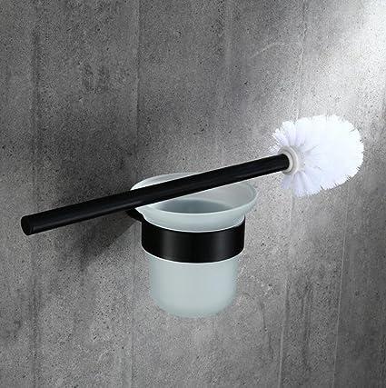 SPOLY Escobilla baño Cepillo y portaescobillas de Bronce Todo de Europa Cepillo y portavasos de Bronce