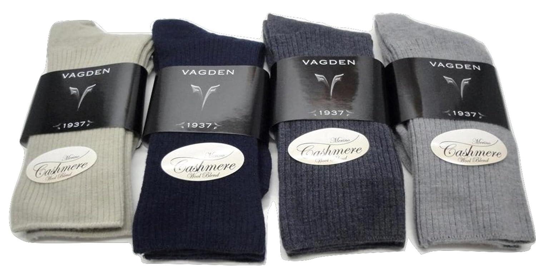 Women's Cashmere non-binding Casual Socks (2 Pairs) (Black) SoxShop