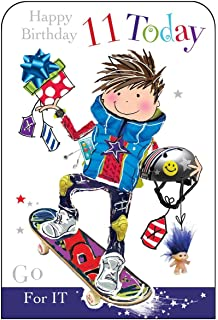 Boy Age 11 Skateboard Birthday Card