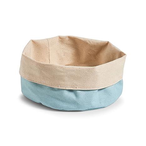 Zeller, Bolsa para el Pan Redonda de algodón, algodón, Mint/créme, 20 x 20 x 12 cm