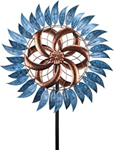 """Wind Spinner 24"""" Wind Sculptures 360 Degrees for Patio Lawn and Garden Let You Feel Different Visual Effects and Relax Your Mood"""