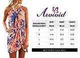 Asvivid Womens Boho Halter Floral Printed Elastic