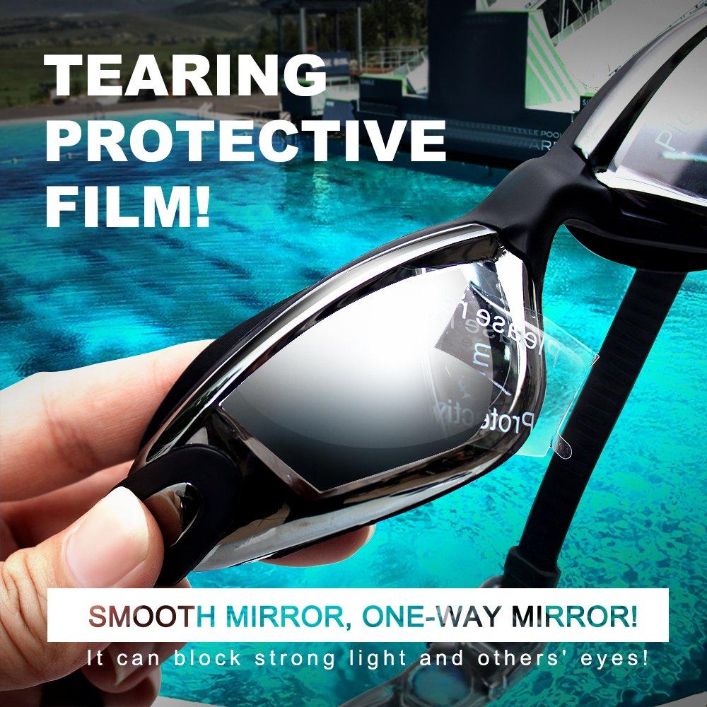 7cc3322c4 Niños gafas de natación con clip de nariz y tapones para los oídos, estuche  de protección, ...