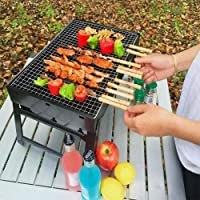 Nityasiddh Carbon Steel Folding & Portable Outdoor Charcoal BBQ Grill Oven (Black)