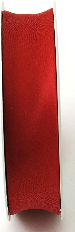 Inastri 25//5//5 mm Azetat-Satin Schr/ägband rot 2020