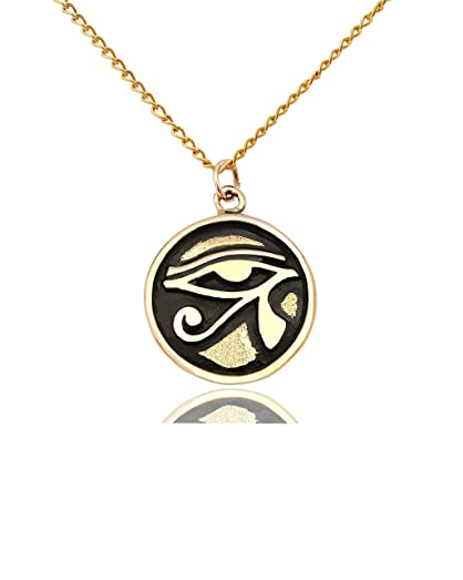 Eye of ra ancient egypt handmade gold brass necklace pendant eye of ra ancient egypt handmade gold brass necklace pendant jewelry aloadofball Images