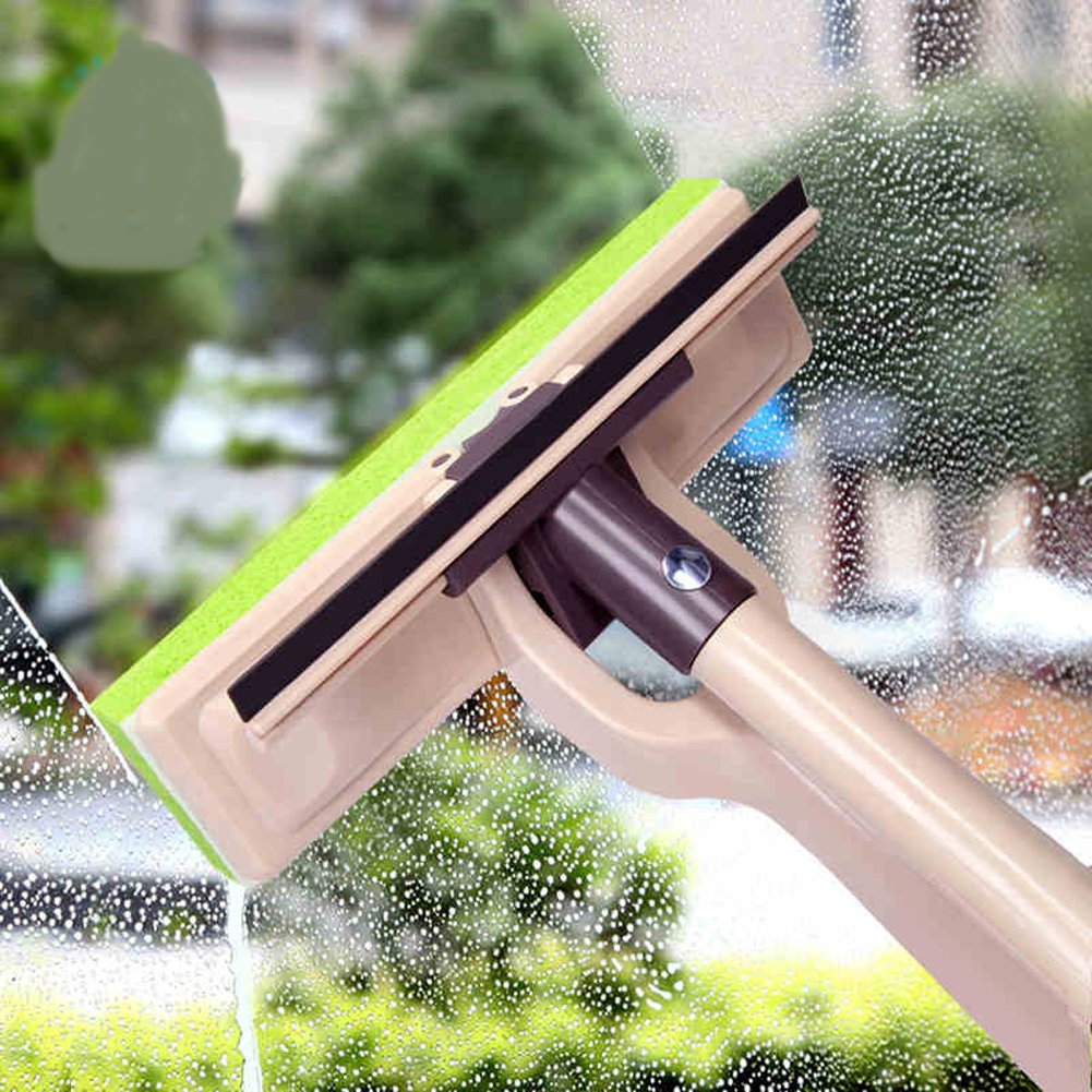 YOYOHOME Window Squeegee with Scrubber, 3-in-1 Professional Window Brush and Scrubber Cleaning and Washing Tool Kits With Extension Pole 30'' for High Window, Glass, Shower, Solar Panels, Mirrors, Auto by YOYOHOME (Image #4)