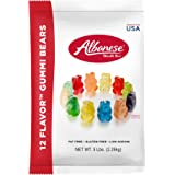 Albanese Candy 12 Flavor Gummi Bears (1) 5 Pound Bag, Gummi Candy, Assorted Flavors, Gluten Free, Dairy Free, Fat Free, Low Calorie