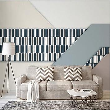 Hu0026M Wallpaper Retro Minimalist Nordic Style Fashion 3D Maßgeschneiderte  Wandbilder Für Wohnzimmer/Schlafzimmer/TV