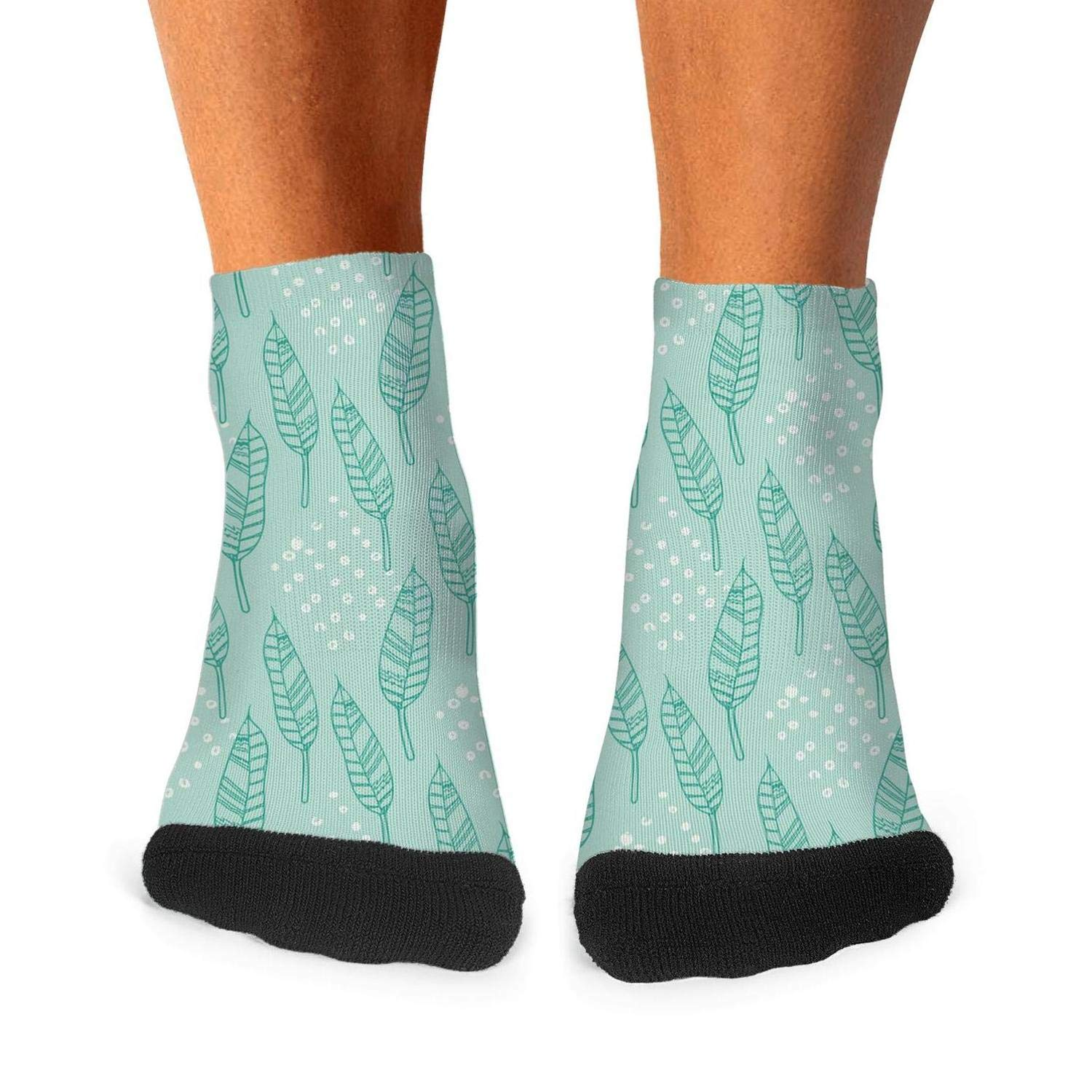 Feathers and butterfly mens socks casual no deformation compression socks funky short socks Unisex