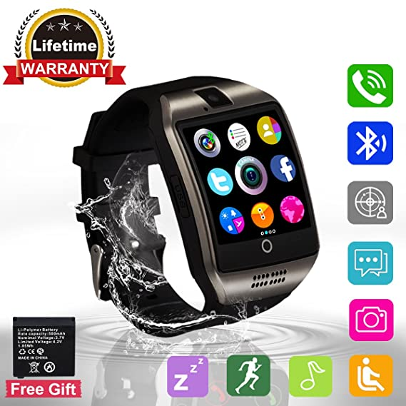 Amazon.com: Bluetooth Smart Watch Touchscreen with Camera ...