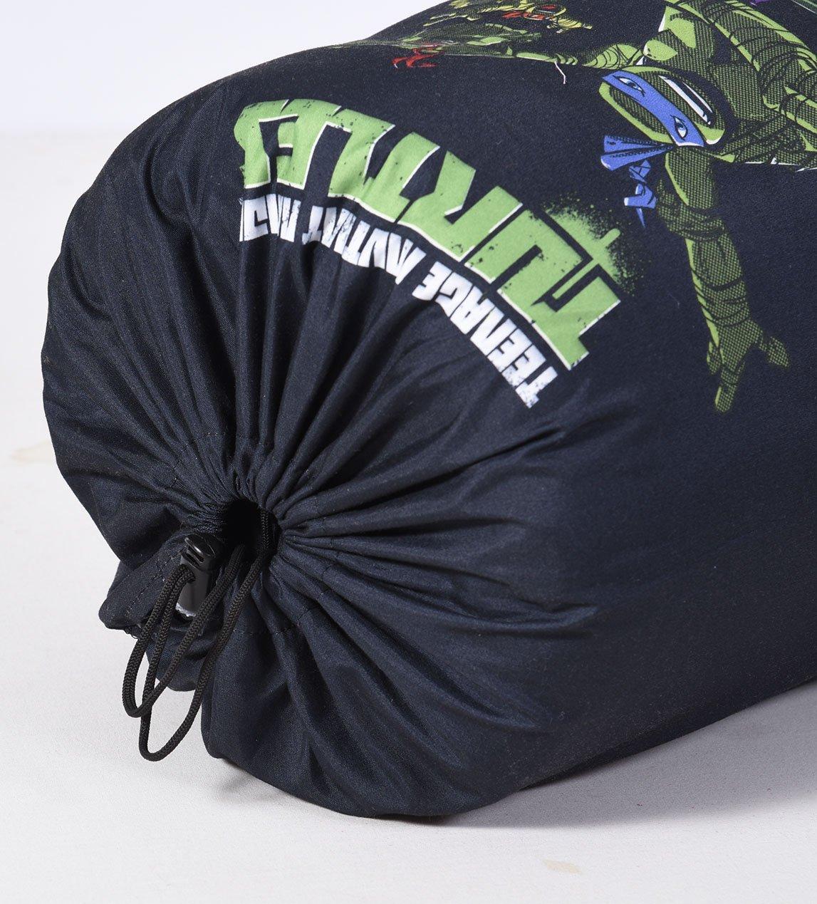 Cambay Linens Nickelodeon Kids Teenage Mutant Ninja Turtles Sleeping Bag Storage Bag, Black by Cambay Linens (Image #1)
