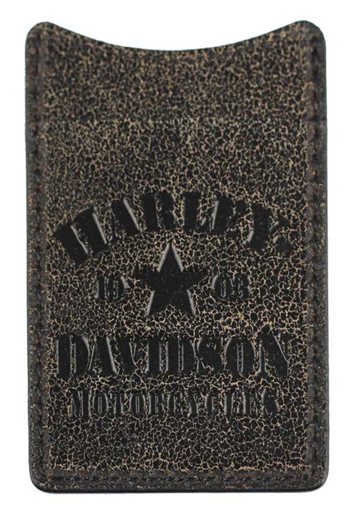 Harley-Davidson Mens Burnished Military Boot Clip Leather Wallet BM6173L-TANBLK