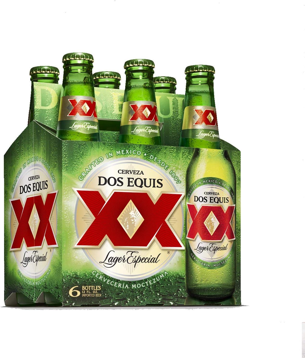 Dos Equis Cerveza Mexicana - Paquete de 6 botellas x 330 ml (Total ...