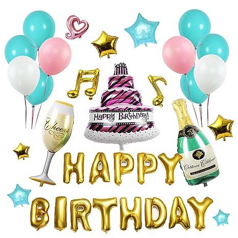 Amazon Funpa Birthday Balloons Set 54Pcs Happy