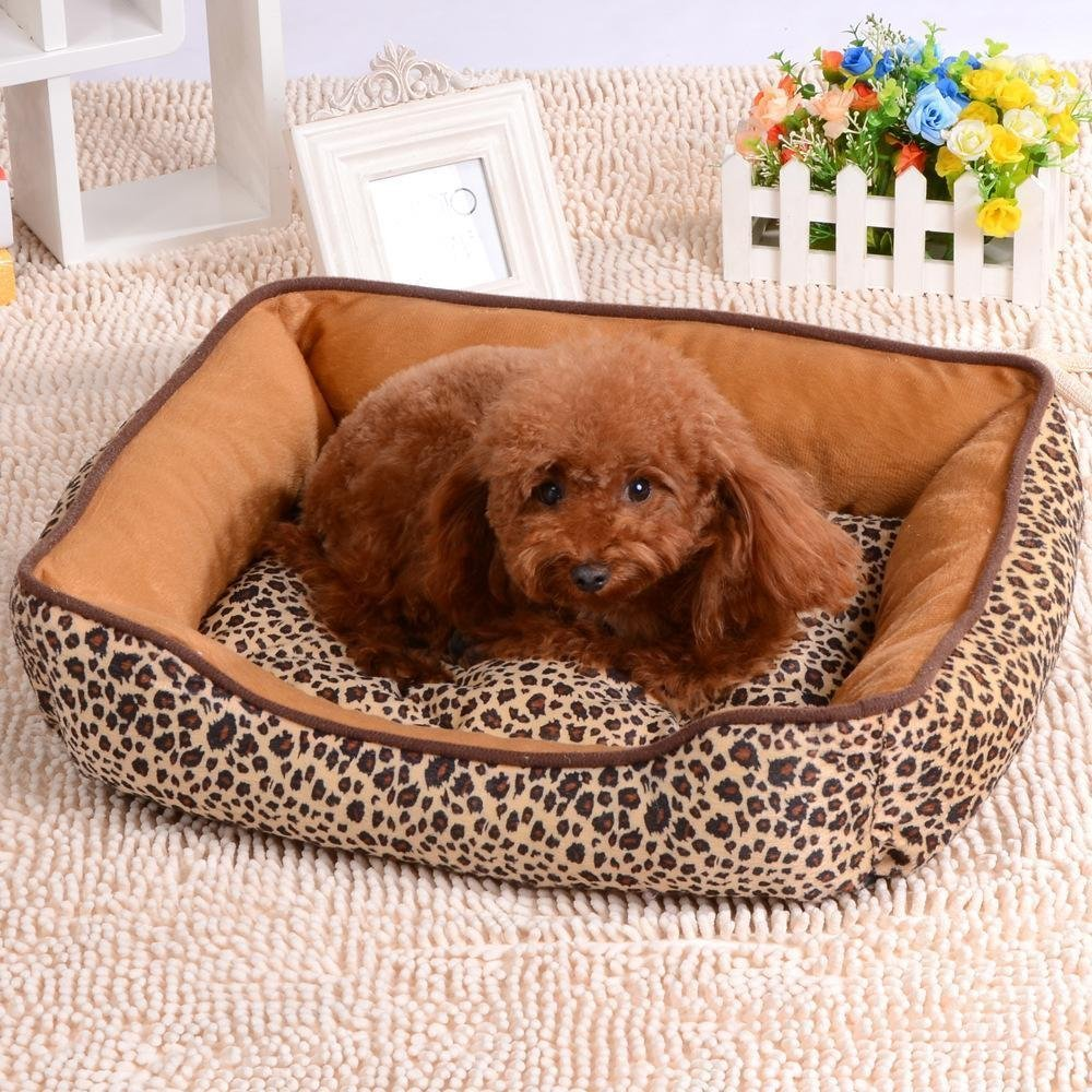 453512cm WUTOLUO Pet Bolster Dog Bed Comfort Cloth super Thick super soft waterproof kennel cat nest (Size   45  35  12cm)