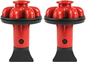 Danco 10923A   Disposal Genie II Garbage Disposal Strainer and Stopper, Kitchen Sink Drain Splash Guard with Food Scraper, Red, 2-Pack
