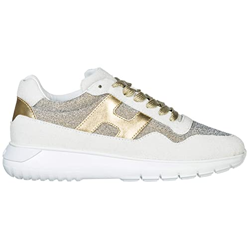 Hogan Sneakers Interactive³ Donna Bianco Oro Pallido 40 EU  Amazon.it  Scarpe  e borse a9dd7fdbae1