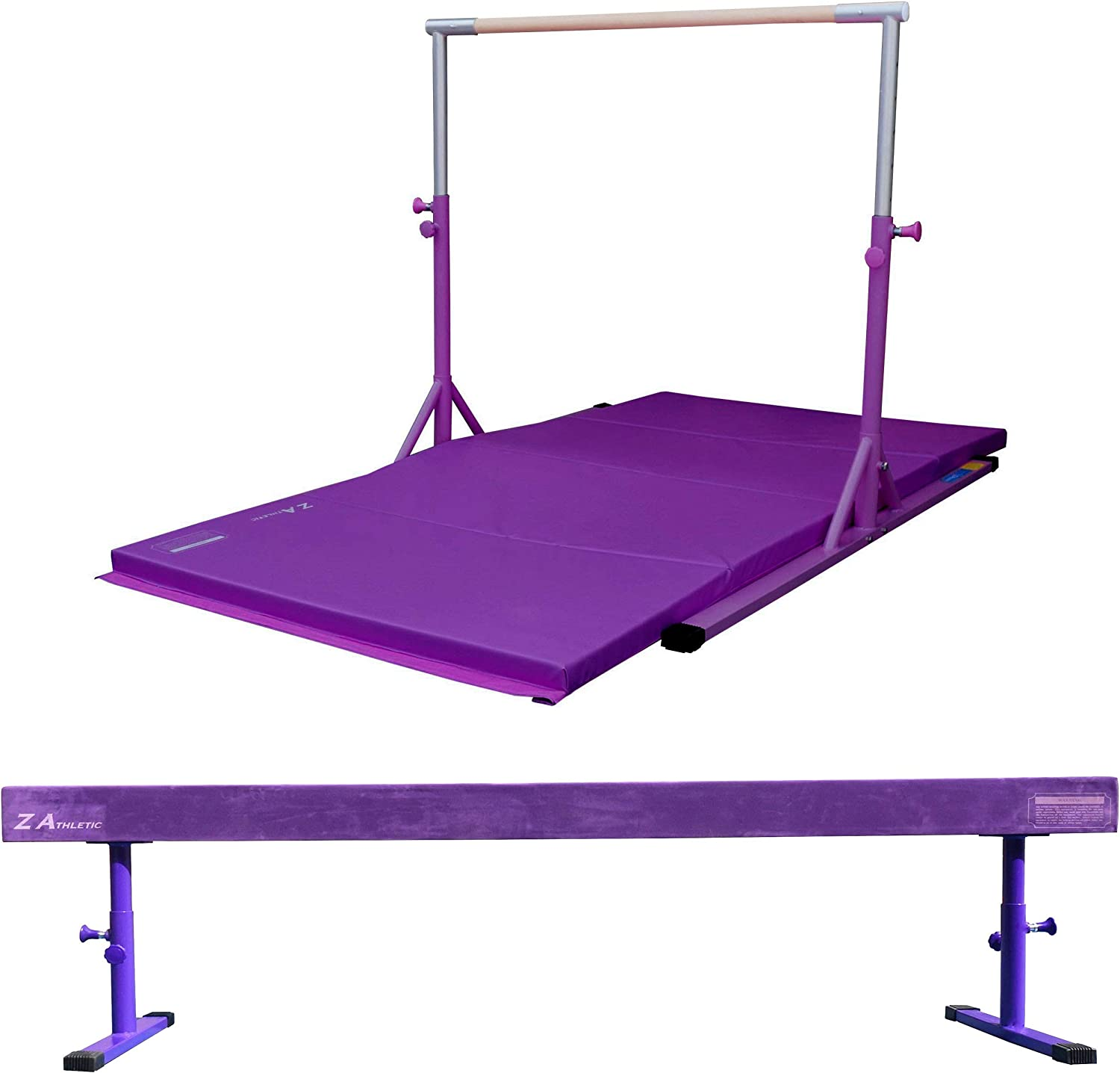 and Off Ground Balance Beam for In Home Gymnastics in Multiple Colors and Sizes Z Athletic Elite Training Bar 4ft x 8ft x 2in Gym Mat
