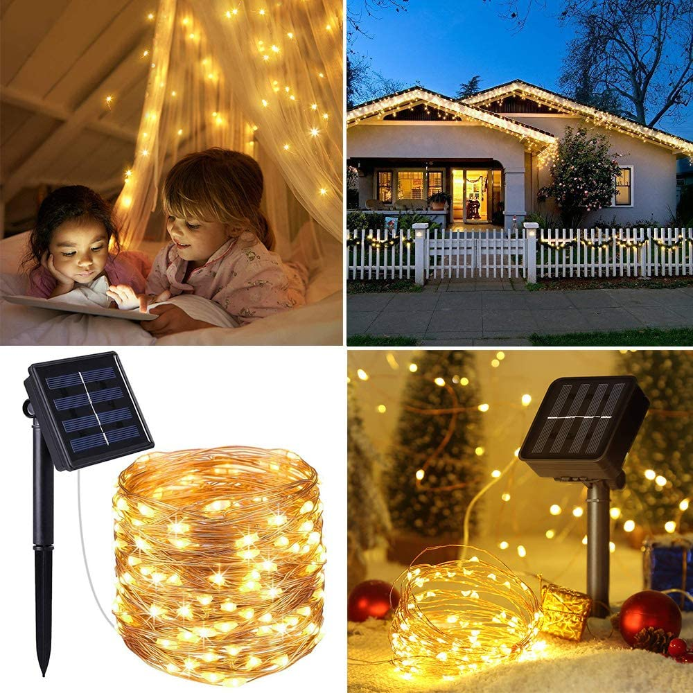 Garden Party Yard Waterproof Solar Decorative Lights for Patio Home Life Dreamer 2 Pack Solar String Lights 33ft 100 LED Outdoor Solar Powered String Lights Wedding Christmas Decoration