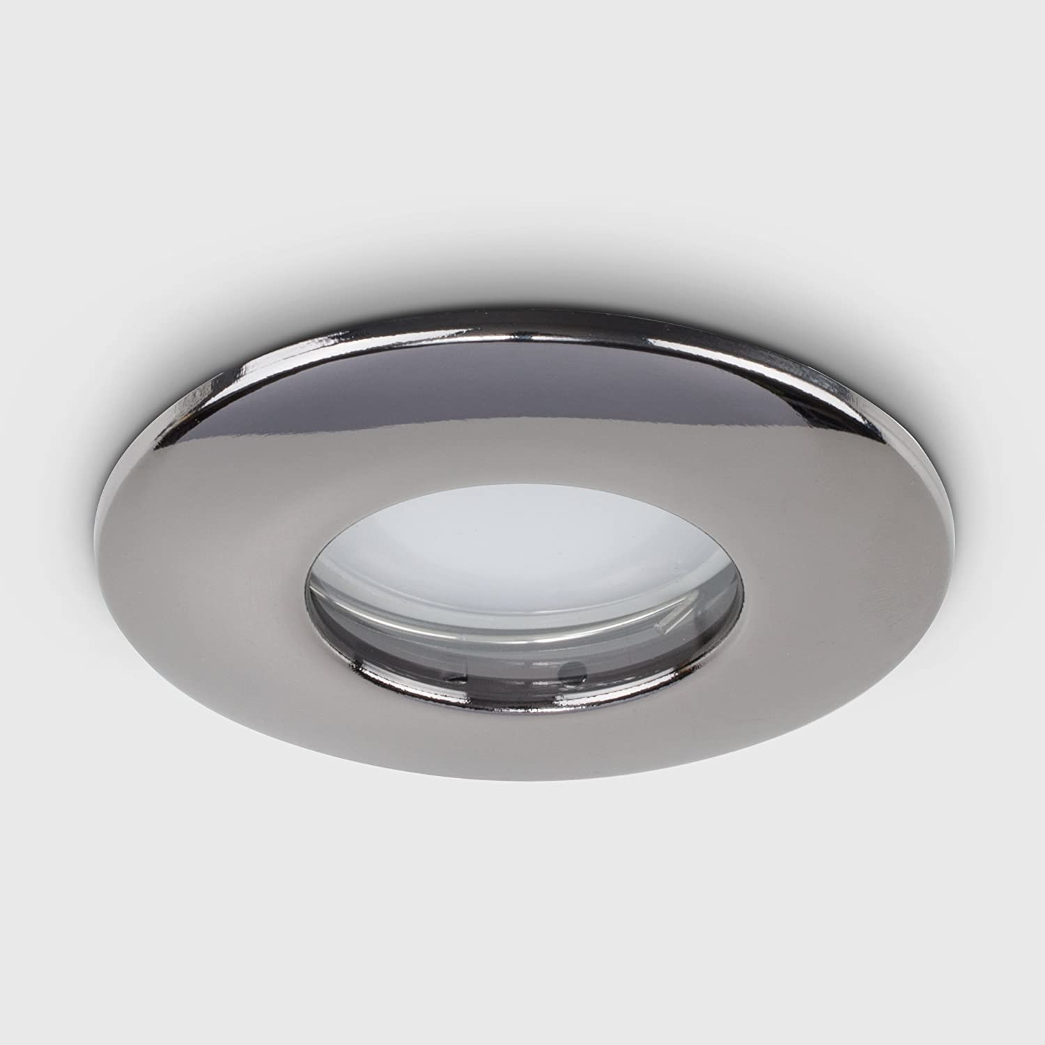 MiniSun Fire Rated Bathroom//Shower IP65 Polished Chrome Domed GU10 Ceiling Downlights
