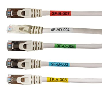 Amazon.com: Mr-Label® Vinyl Self-Laminating Printable Cable Labels ...
