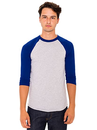 918d164dfbc Amazon.com  American Apparel BB453 - Unisex Poly-Cotton 3 4-Sleeve ...