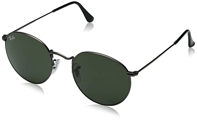 Amazon.com: Ray-Ban RB3447 029 ROUND METAL - MATTE GUNMETAL Frame ...