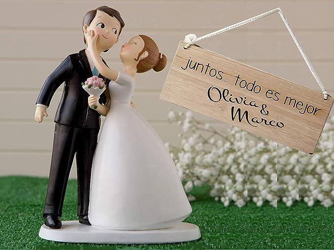 Momparler1870 Figura Novios *Besitos* y romántico Cuadro Madera ...
