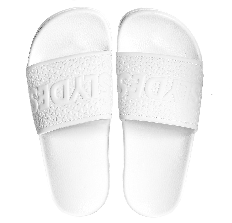 195334644dea0 Slydes Cali White Men s Slider Sandals  Amazon.co.uk  Shoes   Bags