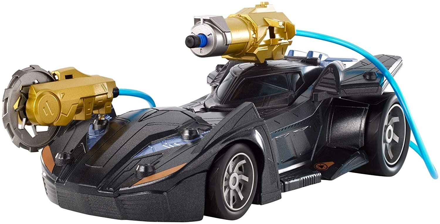 Batman FVY25 Missions Air Power Cannon Attack Batmobile Vehicle, Multi-Colour Mattel