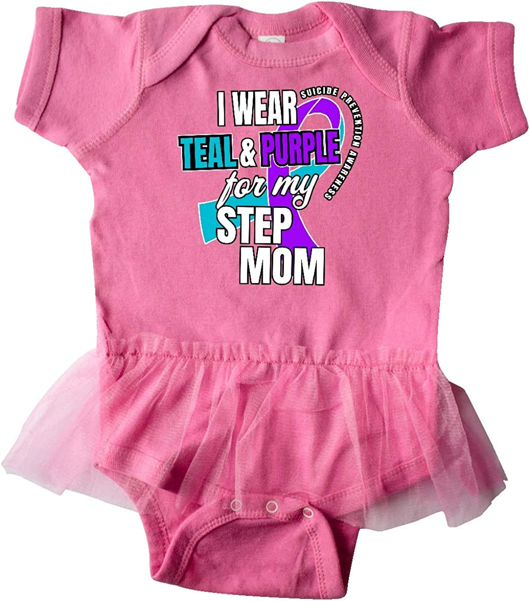 Inktastic Suicide Prevention I Wear Teal and Purple for My Infant Tutu Bodysuit