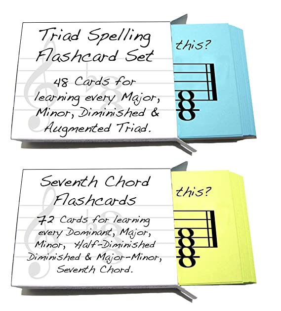 Amazon Triad And Seventh Chord Names Flashcard Sets 2 Pack