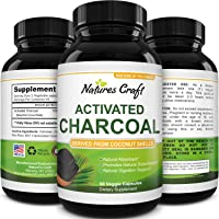 Cleanse and Detox Activated Charcoal Capsules - Pure Activated Carbon Detox Pills...