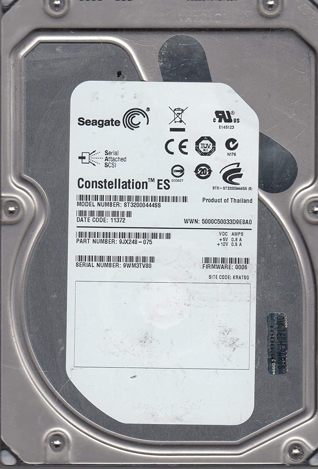 """Lot of 10-2TB Seagate Constellation HDD 3.5/"""" SAS 6Gb//s 7,200 rpm ST32000444SS"""