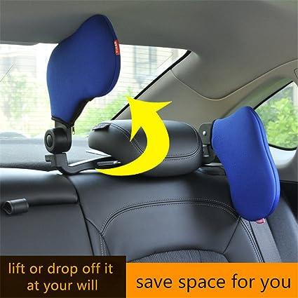 Amazon.com: WZTO Car Neck Pillow, Car Seat Headrest Pillow Highly Elastic Nylon Both Sides Neck Pillow Adjustable Travel Pillow Comfortable Soft Car Neck ...