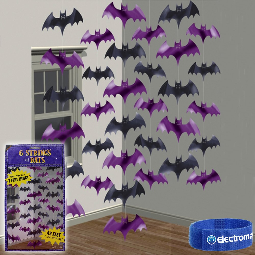 Halloween Party Hanging Bat String Decorations Disco DJ Ceiling Door Props