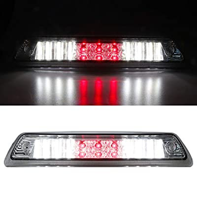 For 2009-2014 Ford F-150 / Lincoln Mark LT LED High Mount Stop Light 3rd Third Tail Brake Light Cargo Lamp Chrome Housing Clear Lens: Automotive