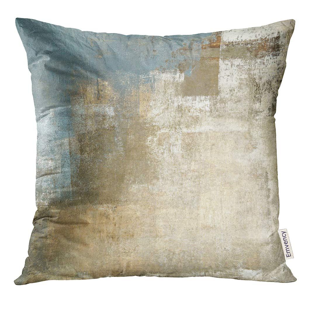 Amazon.com: Emvency Throw Pillow Cover Brown Contemporary Grey and ...