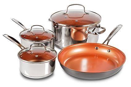 7 Piece Duralon Healthy Ceramic Non Stick Cookware Set