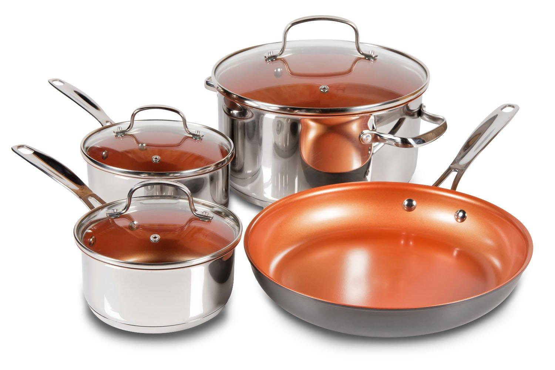 NuWave 31257 7 Piece Cookware Set, 7, Silver