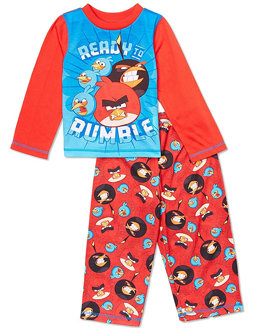Angry Birds, Ready To Rumble Long Sleeve 2-Piece Pajama, Toddler Sizes 2T-4T