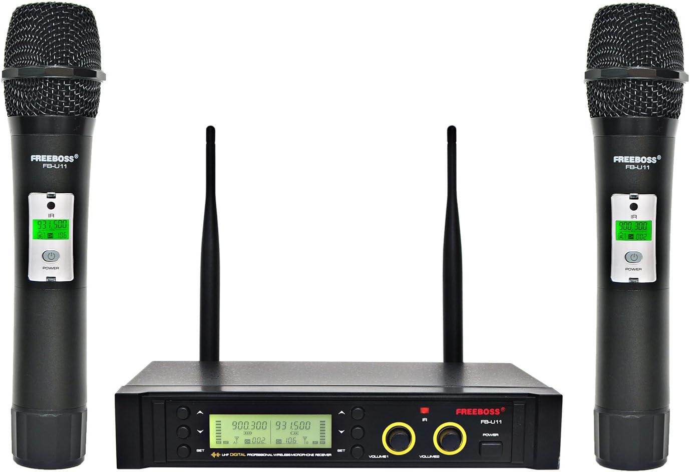 Freeboss FB-U11 UHF Wireless Microphone System Dual Channel IR 2x100 Frequency Wireless Microphone (FB-U11)