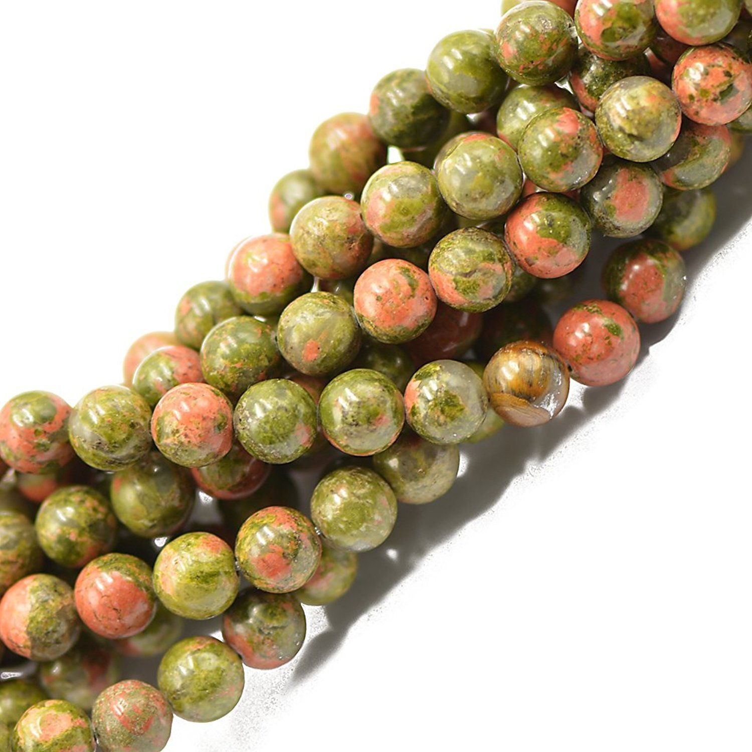 Tokou Natural African Turquoise Beads Jewelry Making 8mm Loose Beads Gemstone Beads Strand Craft Beads Semi-precious Stone Green