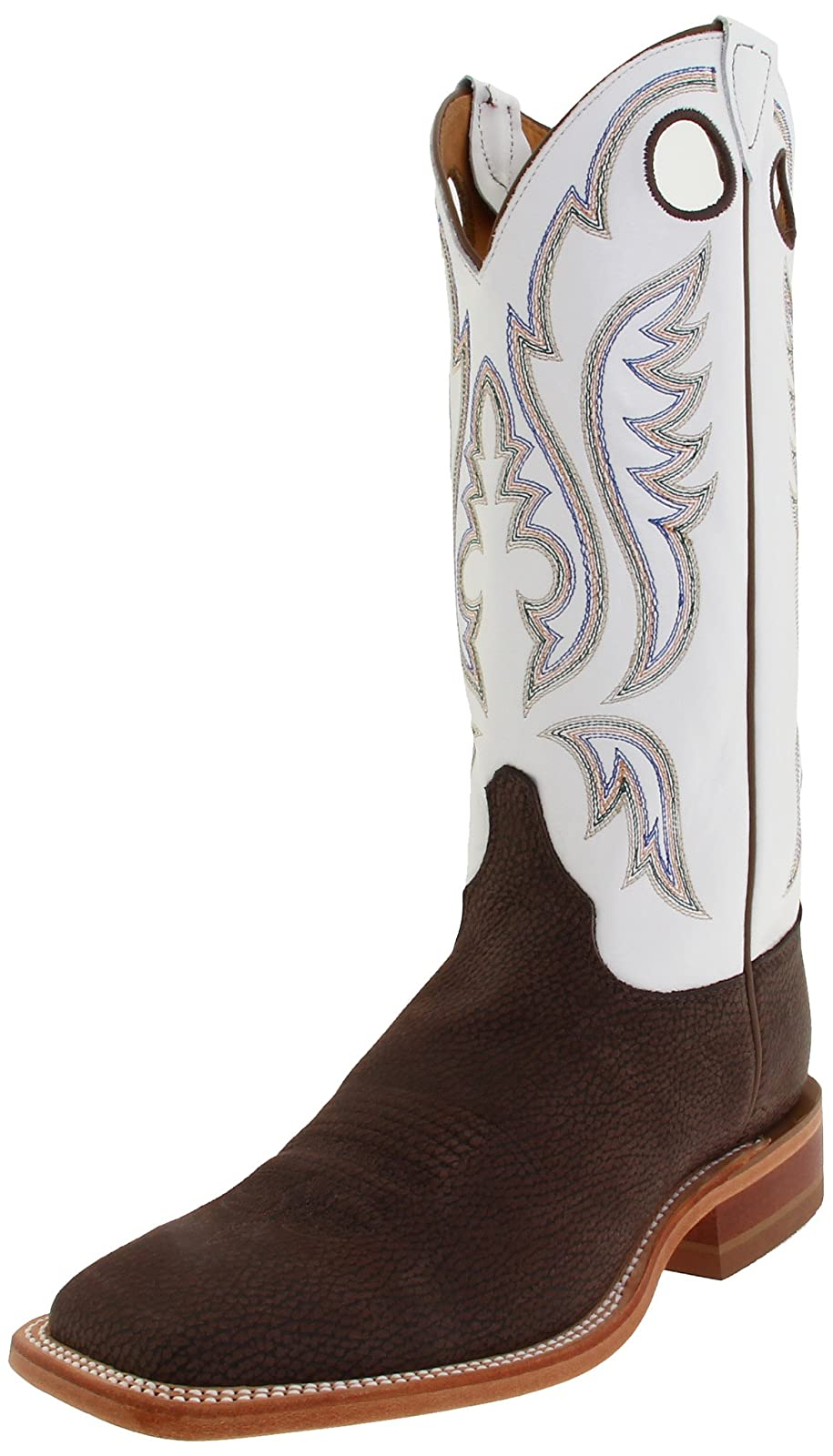 Justin Boots Men's U.S.A. Chocolate Bisonte/White Classic - 1