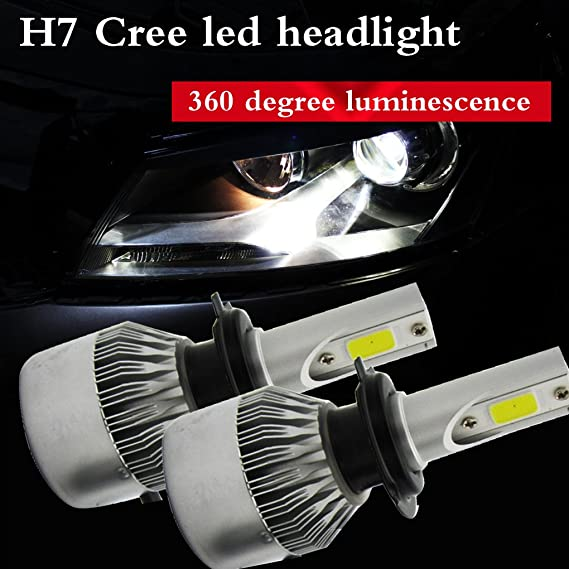 Amazon.com: H7 110W 20000LM Replacement Car LED Headlight Conversion Kits Car Beam Bulb Driving Lamp 6000K with CE certification 1 set 2 pcs 1 year ...